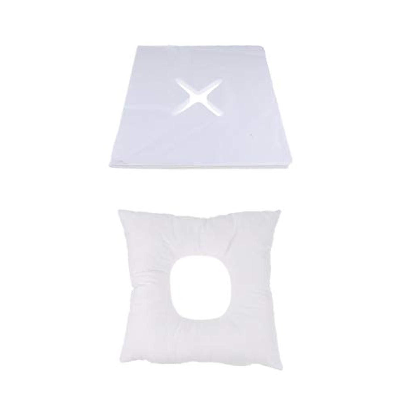 スモッグ無声でホースマッサージ枕 顔枕 フェイスマット 200個使い捨てカバー付き 柔らかく快適