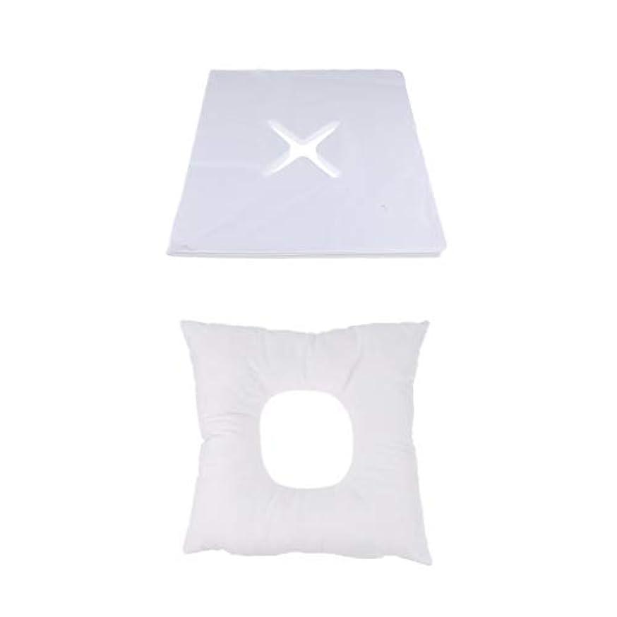 ラリー樹木遺伝的マッサージ枕 顔枕 フェイスマット 200個使い捨てカバー付き 柔らかく快適