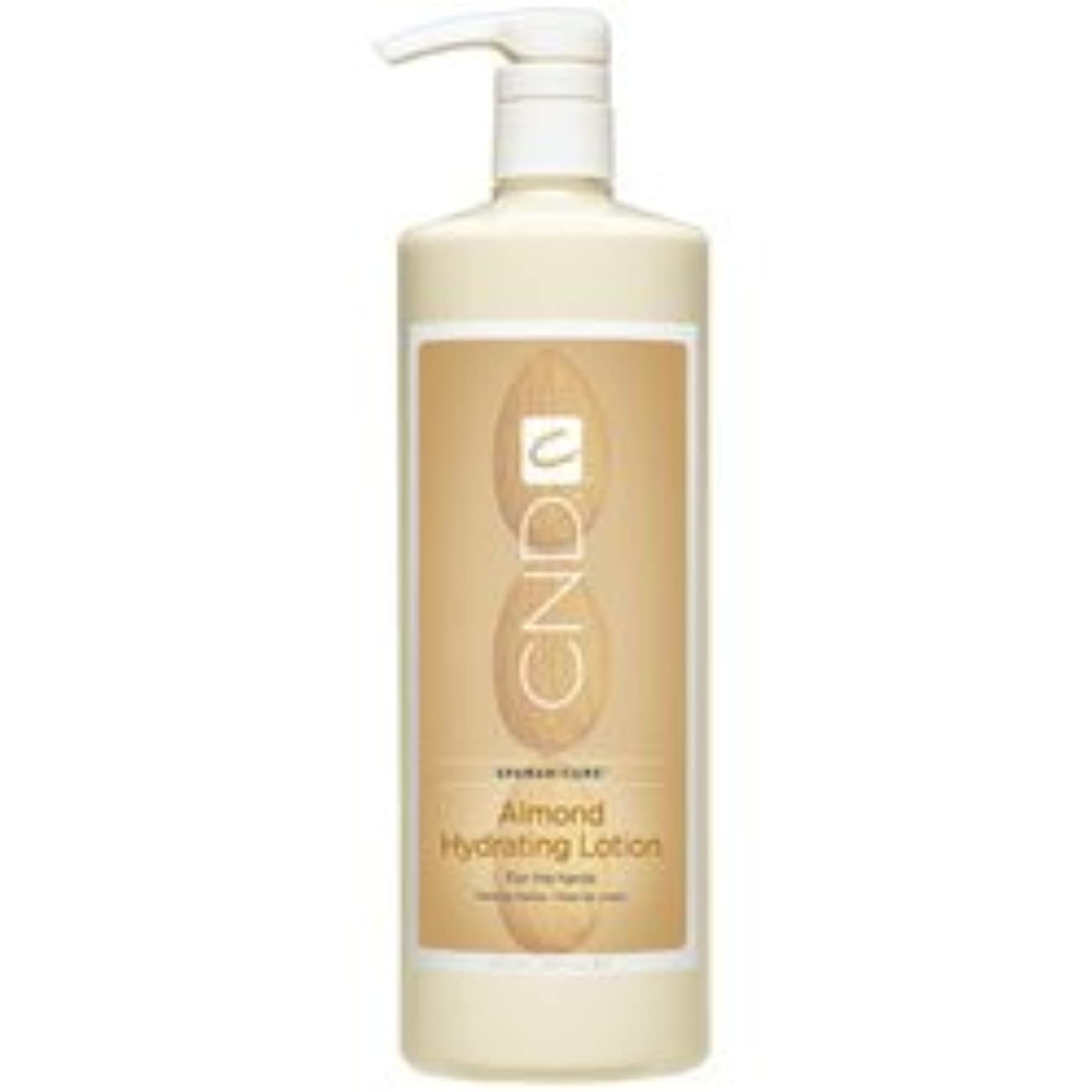 内向きさようならお肉CND SpaManicure - Almond Hydrating Lotion - 33oz