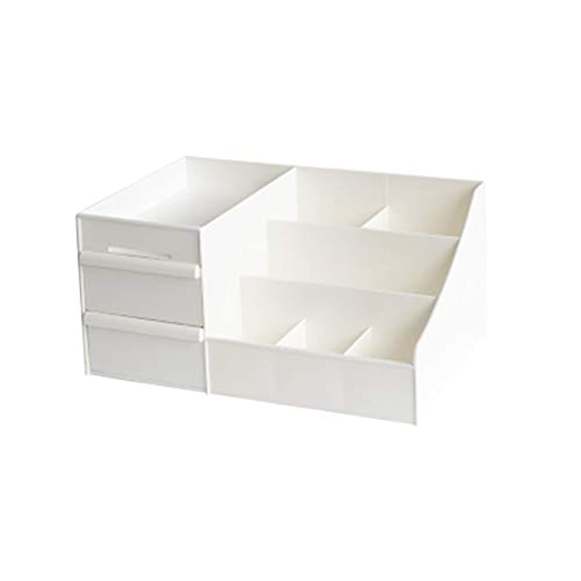 私たち世辞氏[ユリカー] 化粧品収納ボックス コスメボックス 引き出し 卓上収納 安定 メイクボックス シンプル 大容量 小物入れ スキンケア用品 ジュエリーケース 防水 浴室 洗面所 まとめ収納 ホワイトL
