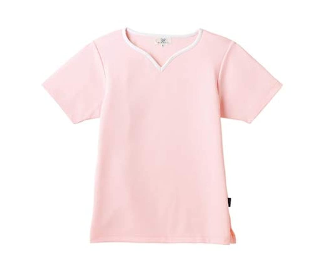 アルカイックむちゃくちゃ一月トンボ/KIRAKU レディス入浴介助用シャツ CR161 3L ピンク