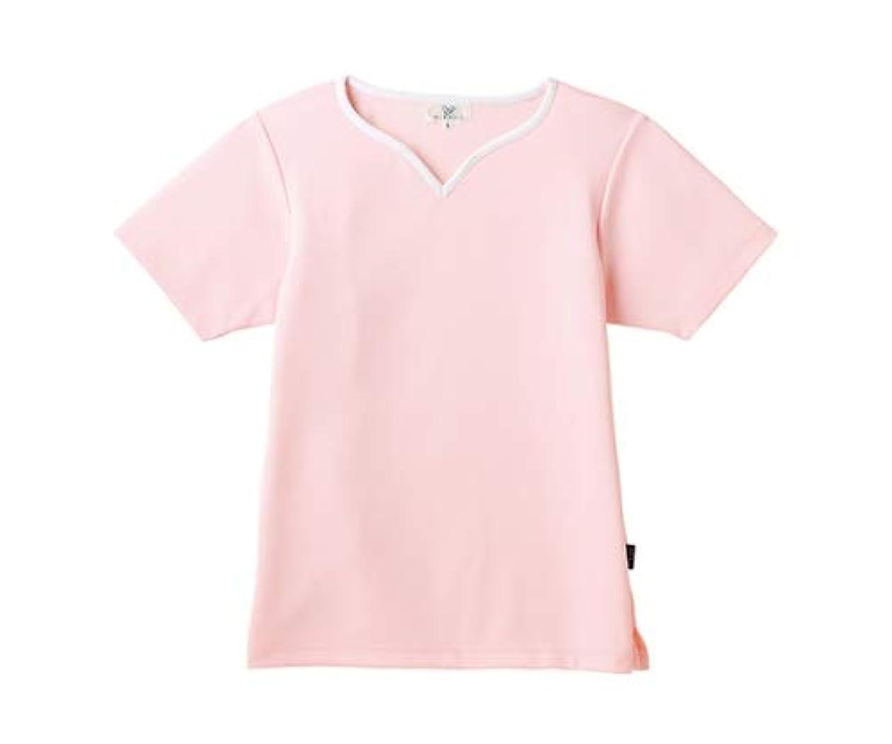 話す気づく抹消トンボ/KIRAKU レディス入浴介助用シャツ CR161 S ピンク