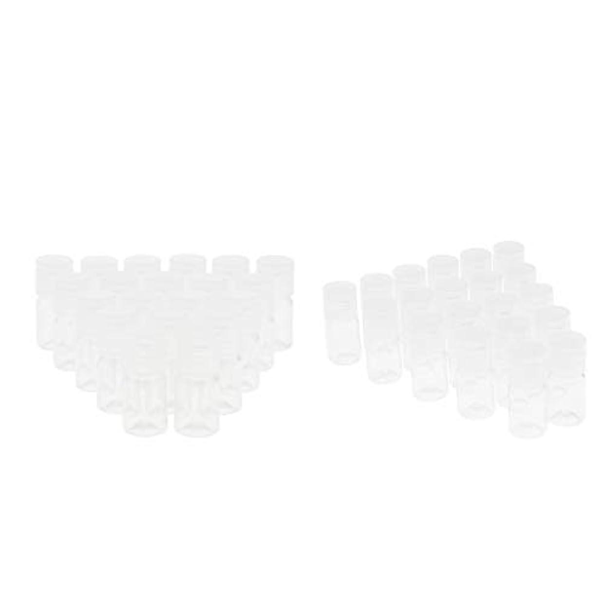グリップフリース倍増Baoblaze 空のびん フリップ帽子 旅行 液体容器が付 5ml プラスチック 約40個