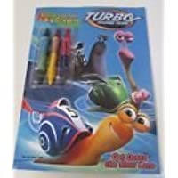 Dreamworks Turbo Racing Team Book toカラーwith 3 BigクレヨンGet Outta The Slow Lane