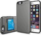 【Spigen】 iPhone6s Plus ケース / iPhone6 Plus ケース, スリム・アーマーCS [IC カード1枚収納可能/電磁波干渉防止シート1枚] 米軍MIL規格取得 耐衝撃カバー アイフォン6s プラス / 6 プラス 用 (ガンメタル SGP10910)
