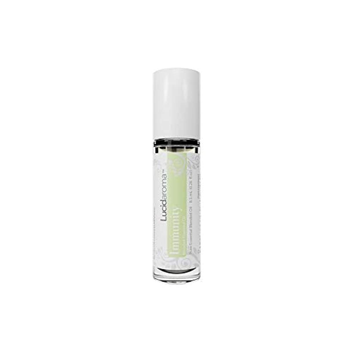 反論腐食するアラブLucid Aroma Immunity イミュニティ ブレンド ロールオン アロマオイル 8.5mL (塗るアロマ) 100%天然 携帯便利 ピュア エッセンシャル アメリカ製