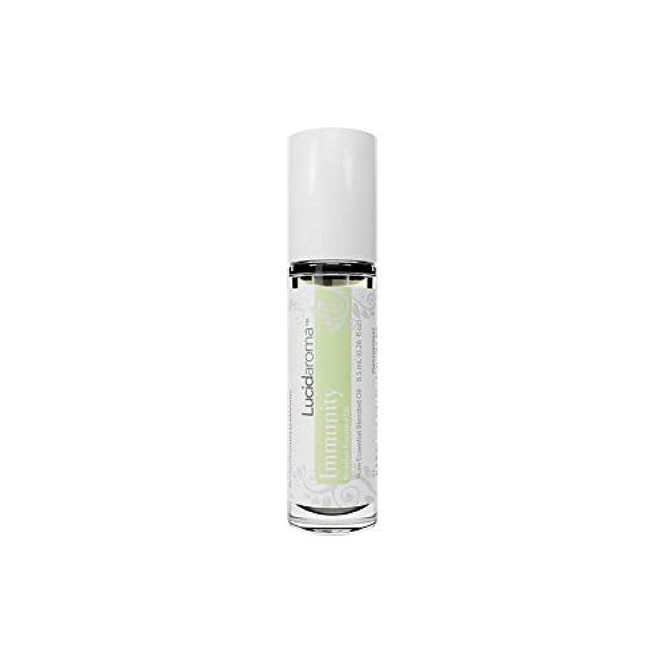 ポーチ違法幻滅するLucid Aroma Immunity イミュニティ ブレンド ロールオン アロマオイル 8.5mL (塗るアロマ) 100%天然 携帯便利 ピュア エッセンシャル アメリカ製