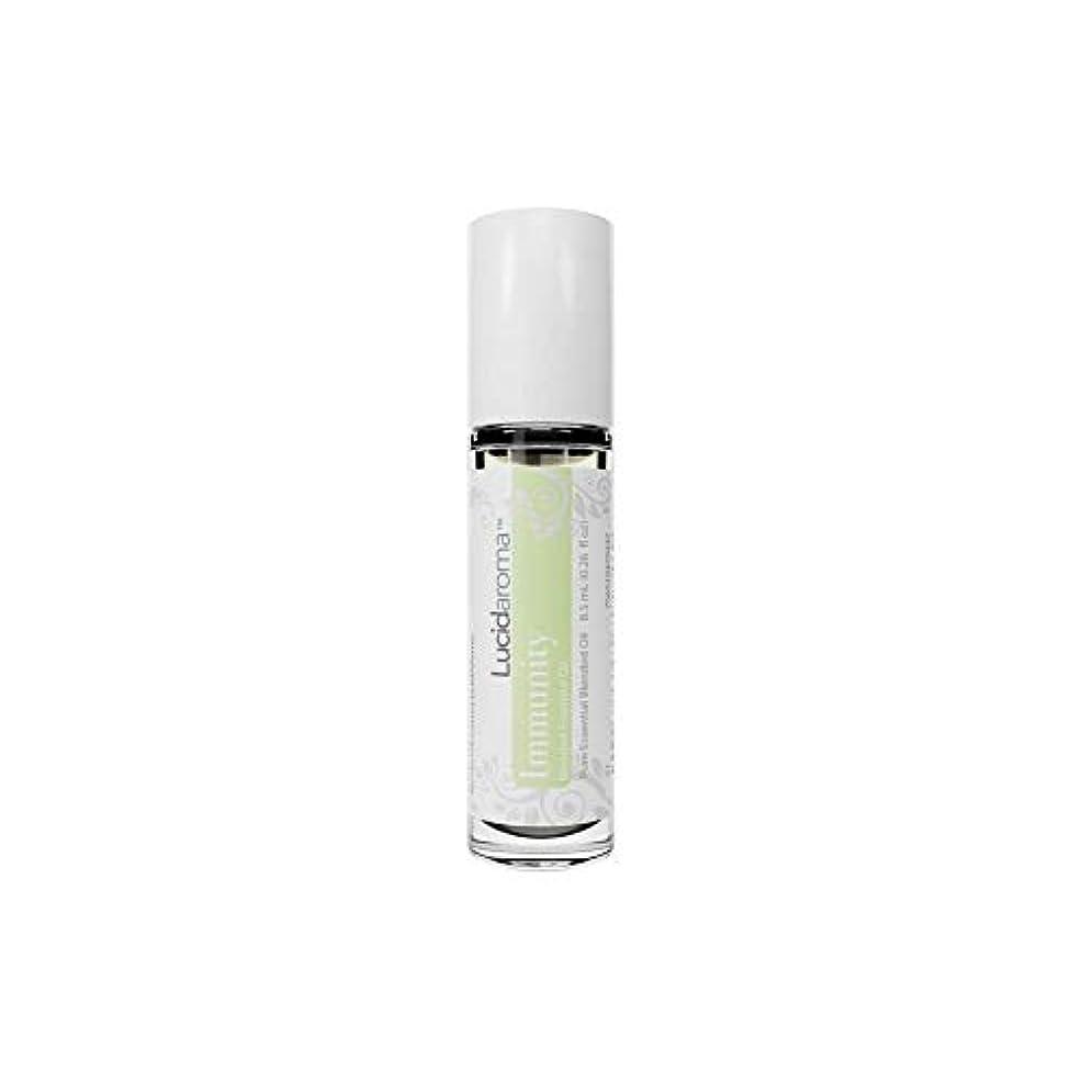 宿命咳モールス信号Lucid Aroma Immunity イミュニティ ブレンド ロールオン アロマオイル 8.5mL (塗るアロマ) 100%天然 携帯便利 ピュア エッセンシャル アメリカ製