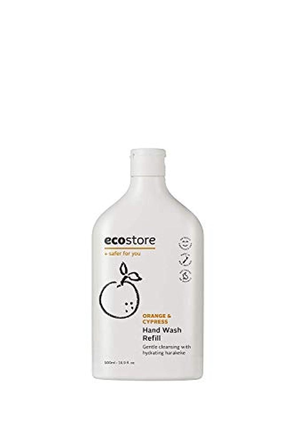 やめる追い付く行方不明ecostore(エコストア) ハンドウォッシュ 【オレンジ&サイプレス】 500mL 詰め替え用 液体タイプ