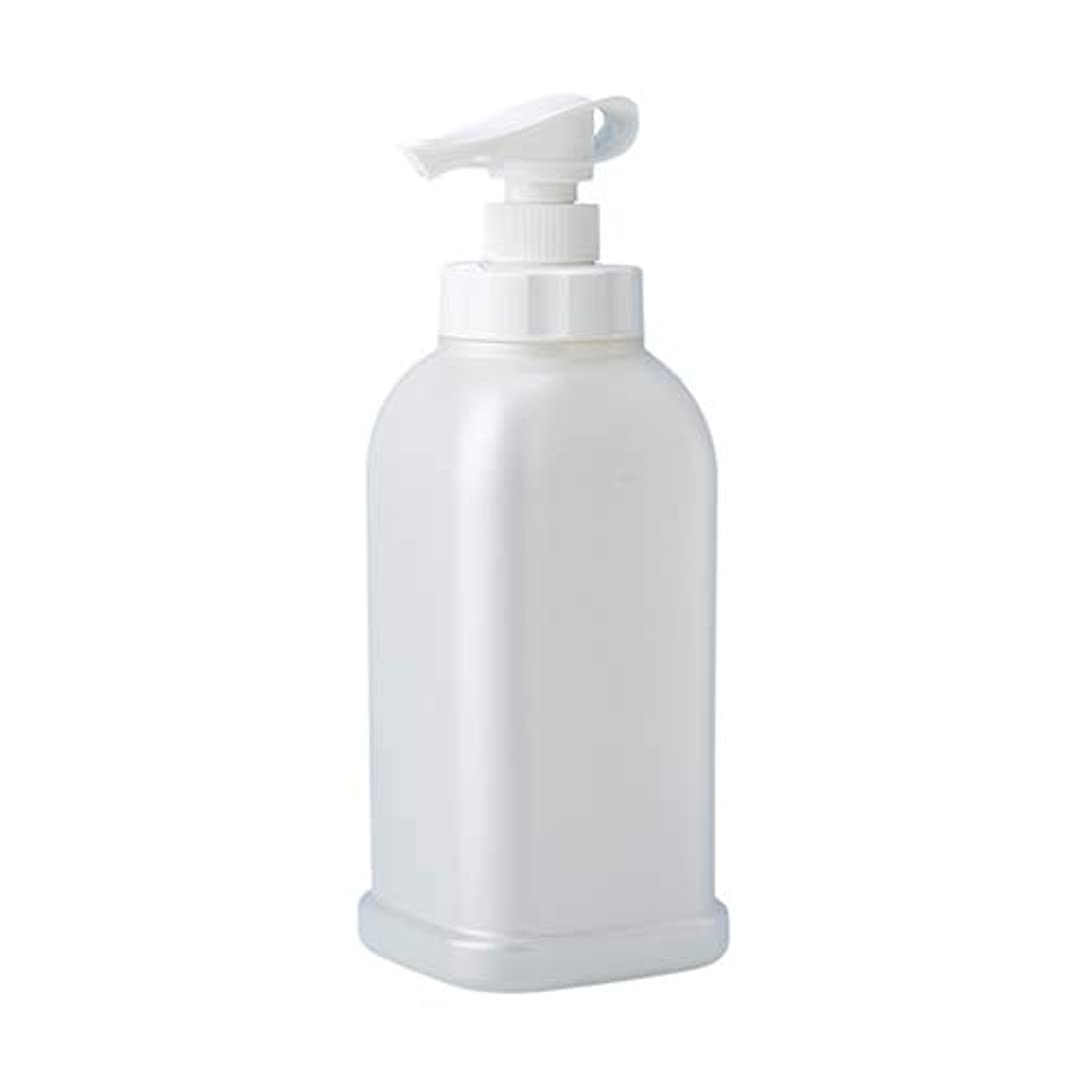 デッド福祉テスト安定感のある ポンプボトル シャンプー コンディショナー リンス ボディソープ ハンドソープ 1.2L詰め替え容器 パールホワイト