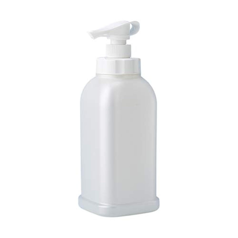やさしく食器棚スキャンダル安定感のある ポンプボトル シャンプー コンディショナー リンス ボディソープ ハンドソープ 1.2L詰め替え容器 パールホワイト