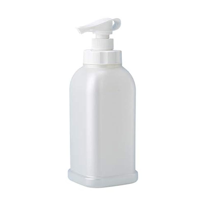一ベジタリアン経験的安定感のある ポンプボトル シャンプー コンディショナー リンス ボディソープ ハンドソープ 1.2L詰め替え容器 パールホワイト
