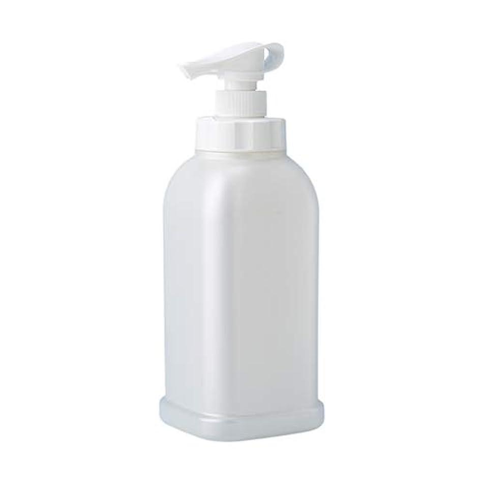 気がついてポンペイ可能性安定感のある ポンプボトル シャンプー コンディショナー リンス ボディソープ ハンドソープ 1.2L詰め替え容器 パールホワイト