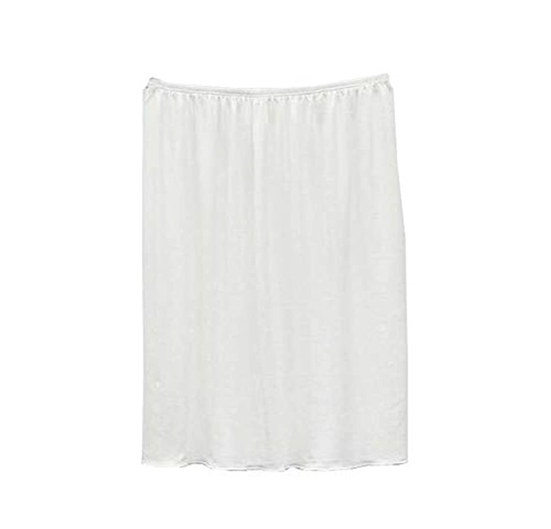みなす黒名前でレディースハーフスリップショートアンダースカート(ワンサイズ)、着丈40cm、白