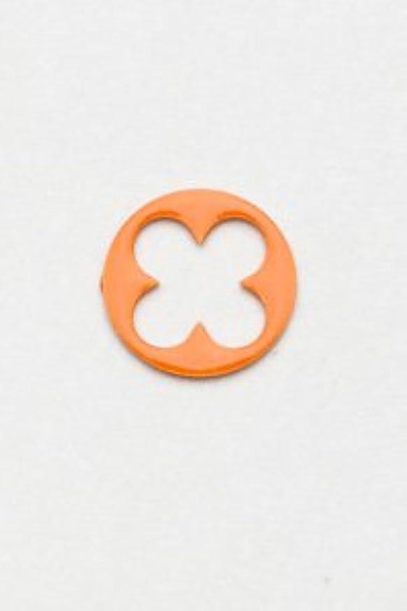 テニス筋肉の日曜日[リトルプリティ] メタリックネイルパーツ 丸花アジサイ?スカシ オレンジ
