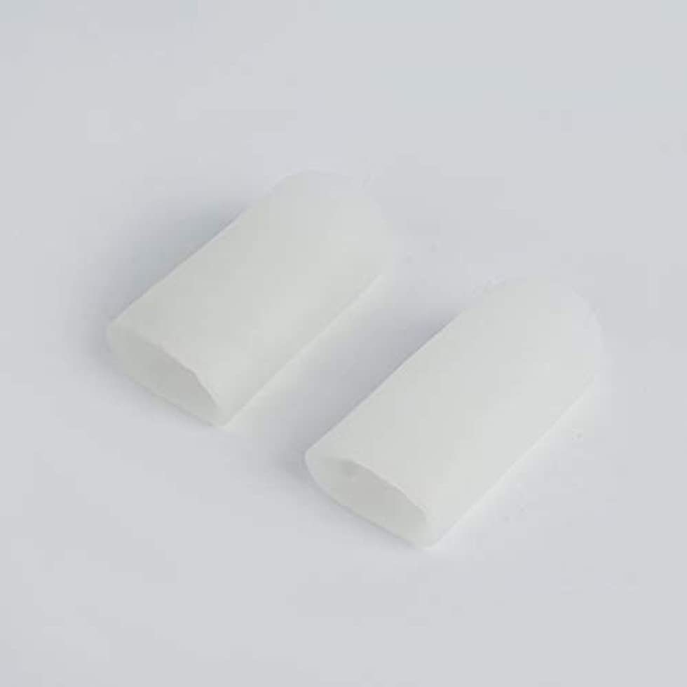 散らす虹まともなOpen Toe Tubes Gel Lined Fabric Sleeve Protectors To Prevent Corns, Calluses And Blisters While Softening And...