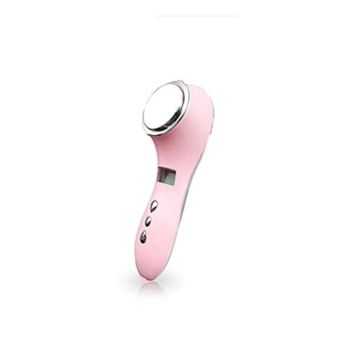 光黒板帳面HEHUIHUI- クレンジングブラシ、ディープクレンジングフェイシャル、防水および振動クレンジングブラシ、アンチエイジング、やさしい角質除去、マッサージ(ホワイト) (Color : Pink)