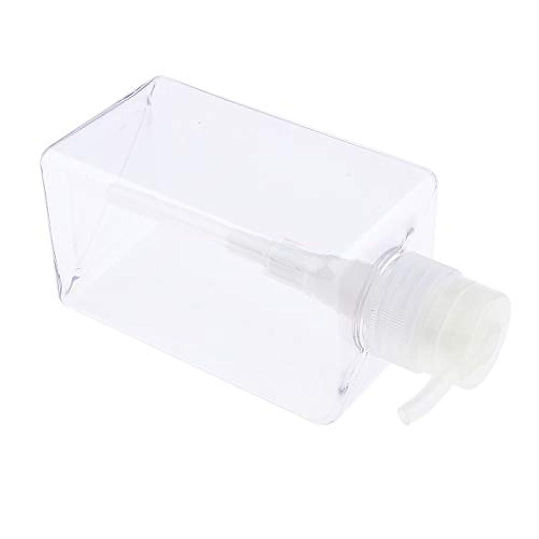 恥ずかしい災害葉F Fityle シャンプーボトル 空ボトル ポンプボトル 詰め替え容器 450ml 4色選べ - クリア
