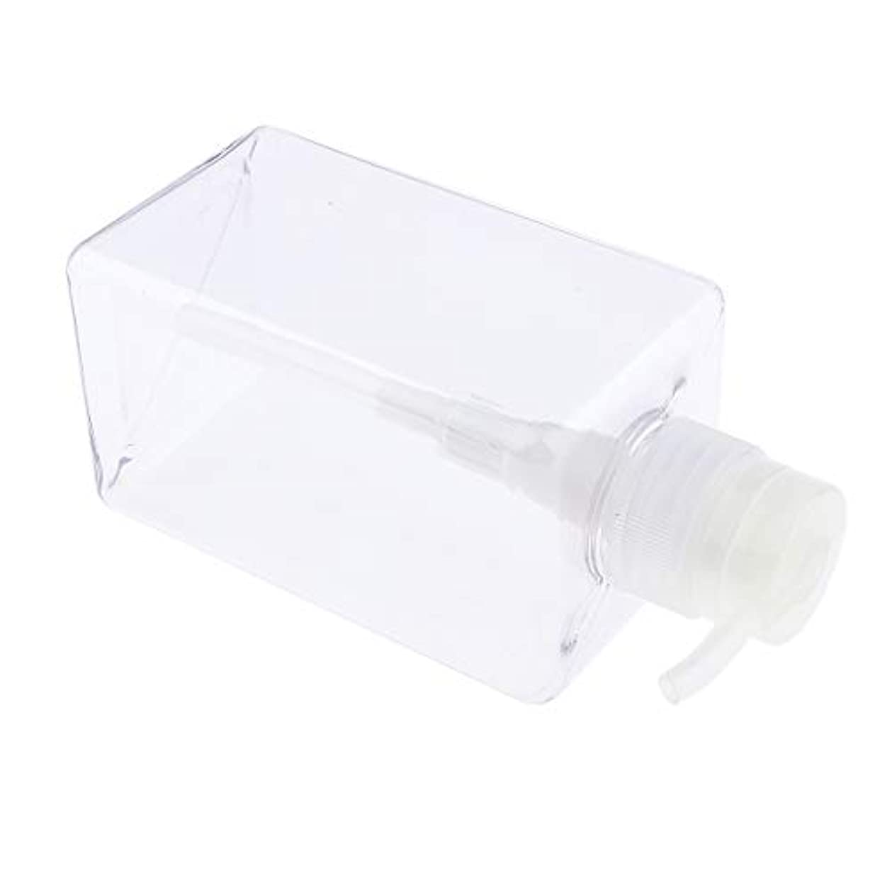 マオリ秀でる落胆したF Fityle シャンプーボトル 空ボトル ポンプボトル 詰め替え容器 450ml 4色選べ - クリア