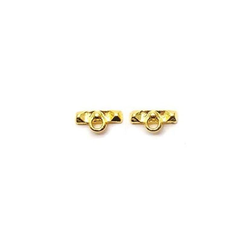 小人極小さまようネイル メタルパーツ 37 ハート クロス ピアス 各種5個入り (11.デザインフックゴールド)