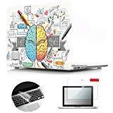 Se7enline 3in 1 MacBook Pro 13 インチ ハードケース2009-2012年 旧型、日本語キーボードカバー(JIS配列)対応モデル:[A1278]、保護フィルム(左右脳 3)