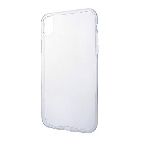 iPhone XR ソフトケース カバー TPU クリア ケース 透明 無地 シンプル apple アップル アイフォン 10R docomo au SoftBank SIMフリー スマホケース スマホカバー 密着痕を防ぐマイクロドット加工