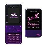 SONY Xmini (W65S) パープル×ピンク 携帯電話 白ロム au