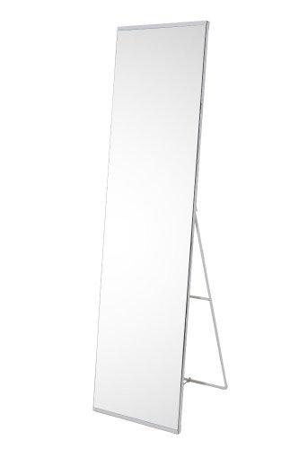 生活雑貨インテリア通販/ノンフレーム 全身鏡 鏡面は両サイドにフレームがないので、すっきりしています 大型 家具 スタンドミラー シンプル (ホワイト 白)