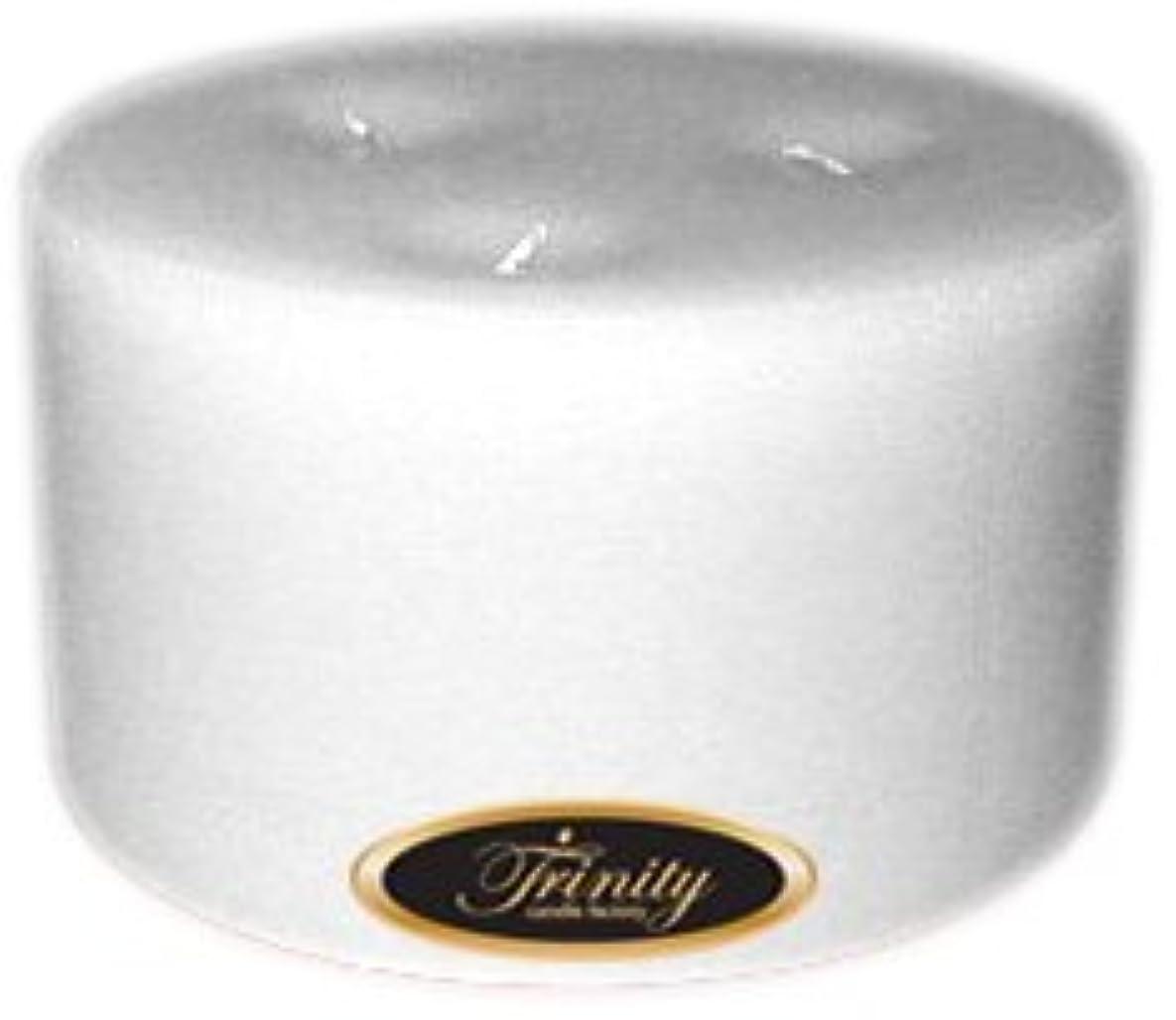 タイマー幻想建てるTrinity Candle工場 – ホワイトクリスマス – Pillar Candle – 6 x 3