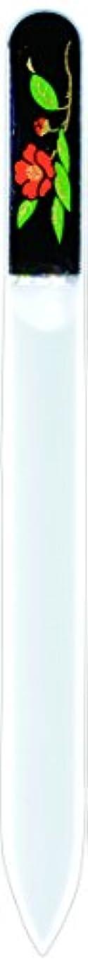 バックグラウンドヘクタール代わりにを立てる橋本漆芸 ブラジェク製高級爪ヤスリ 十二月 椿 紙箱