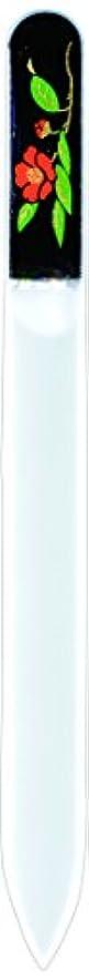 重荷ハンサム開いた橋本漆芸 ブラジェク製高級爪ヤスリ 十二月 椿 紙箱
