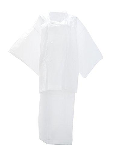 (あづま姿) 着物用 二部式雨コート 携帯用ポーチ付き 763 女性 白 フリーサイズ