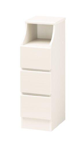組立簡単チェスト ホワイト 高さ91cm 幅28cm