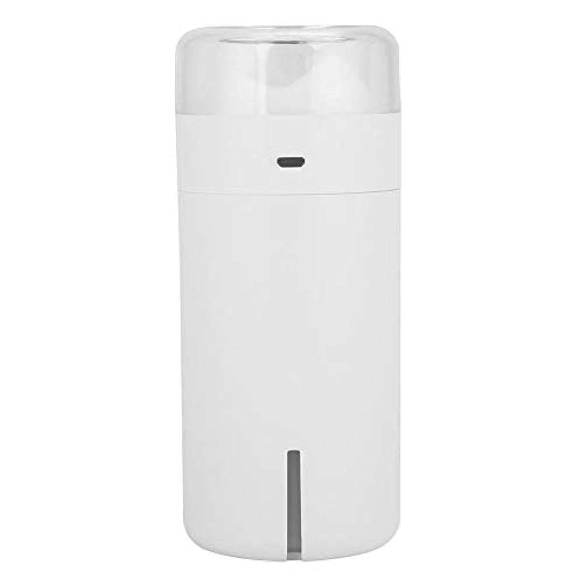 ラメ治世爆弾携帯用拡散器、車のオフィスのためのUSBケーブルが付いている超音波空気加湿器7色LEDの軽い清浄器(白)
