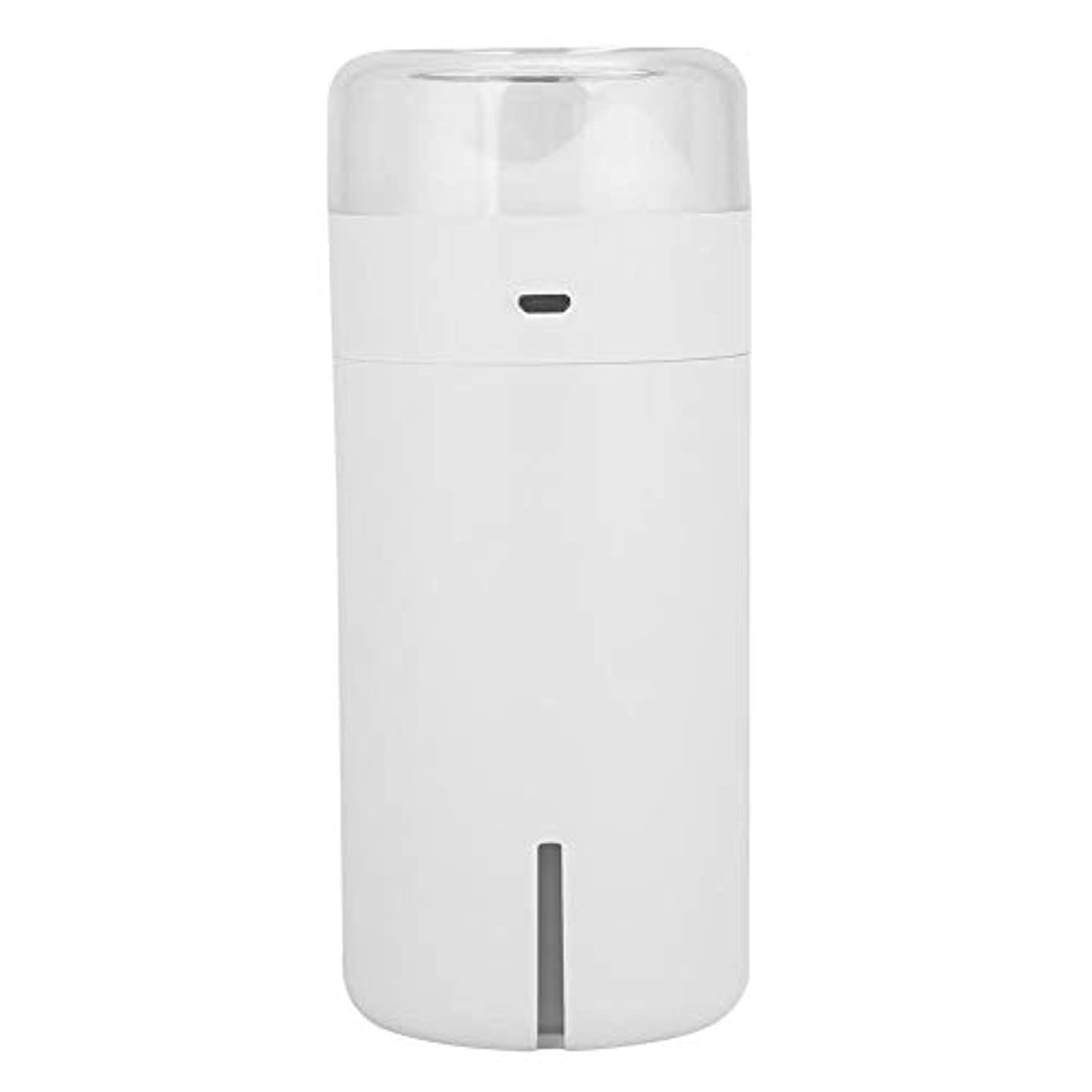 携帯用拡散器、車のオフィスのためのUSBケーブルが付いている超音波空気加湿器7色LEDの軽い清浄器(白)