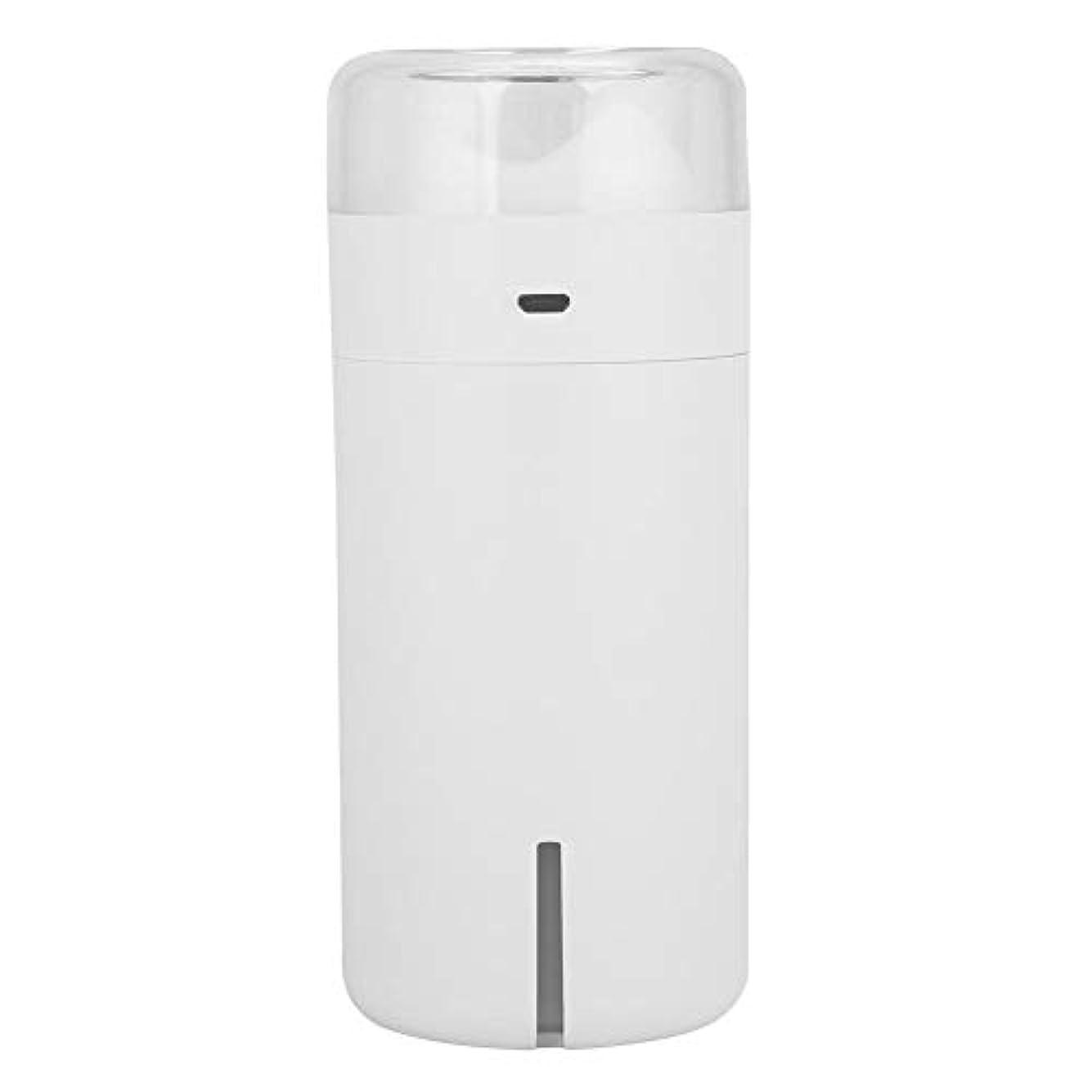 方向化石不和携帯用拡散器、車のオフィスのためのUSBケーブルが付いている超音波空気加湿器7色LEDの軽い清浄器(白)