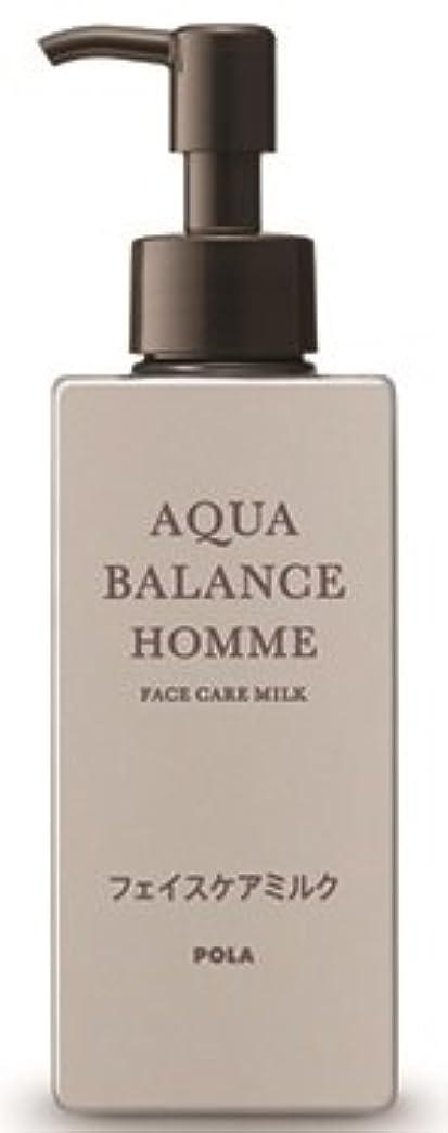 文献はっきりと耳AQUA POLA アクアバランス オム(AQUA BALANCE HOMME) フェイスケアミルク 乳液 シェービングの肌を保護 1L 業務用サイズ 詰替え 200mlボトルx1本