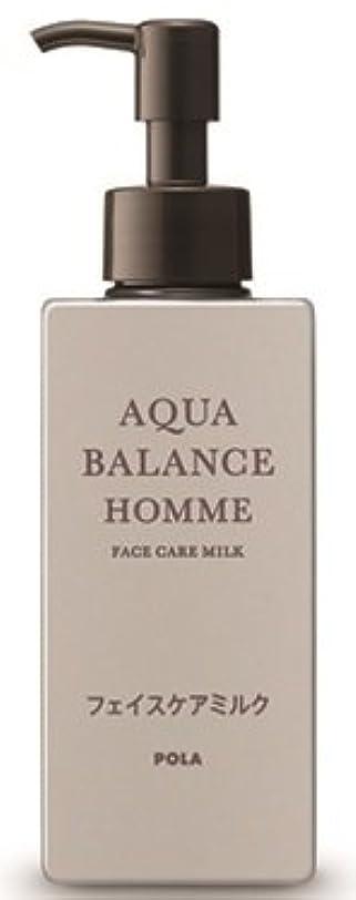 牧師ライム典型的なAQUA POLA アクアバランス オム(AQUA BALANCE HOMME) フェイスケアミルク 乳液 シェービングの肌を保護 1L 業務用サイズ 詰替え 200mlボトルx1本
