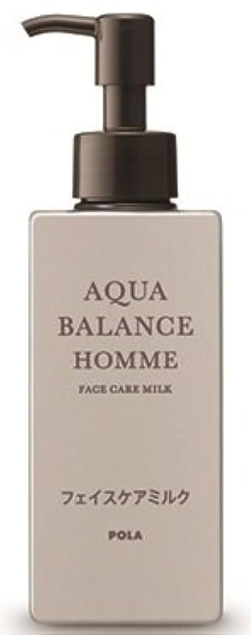 測定可能意欲虹AQUA POLA アクアバランス オム(AQUA BALANCE HOMME) フェイスケアミルク 乳液 シェービングの肌を保護 1L 業務用サイズ 詰替え 200mlボトルx1本