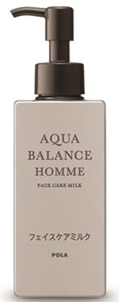 矢遺伝的晩ごはんAQUA POLA アクアバランス オム(AQUA BALANCE HOMME) フェイスケアミルク 乳液 シェービングの肌を保護 1L 業務用サイズ 詰替え 200mlボトルx1本
