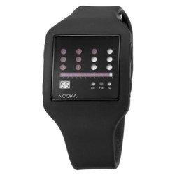 時計 Nooka 男女兼用 ZUB-ZOT-BK-20 Zub Zot Black Polyurethane Watch [並行輸入品]