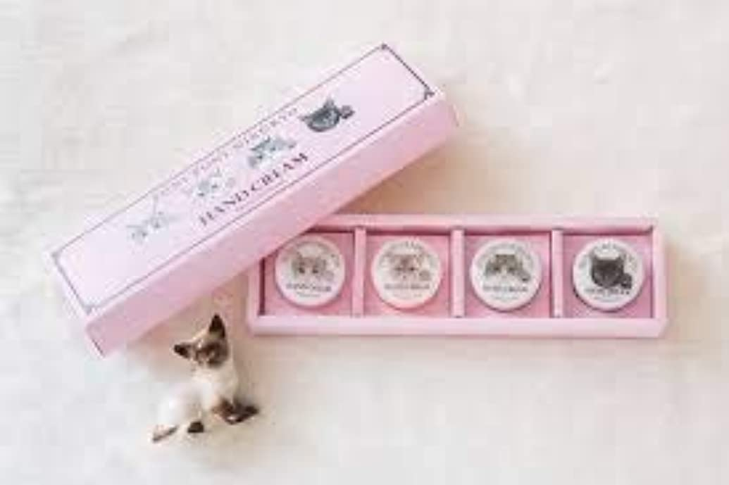 ナンセンス違法パントリーFELISSIMO(フェリシモ)プニプニ肉球の香りハンドクリーム 4色ミニセット