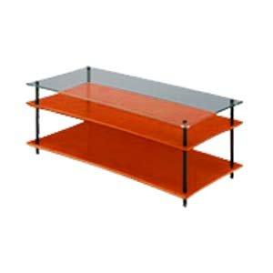 クアドラスパイア チェリー棚板+透明ガラス棚板 ブラックポール QAVMB/CHGL