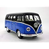 Volkswagen - VW T1 (Type 2) Bus 1/32 Scale Diecast & Plastic Model - BLACK/BLUE