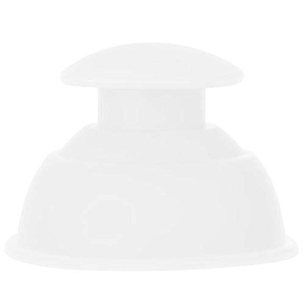 プライム椅子狂乱7種類のカッピングカップマッサージセット、シリコーン水分吸収剤アンチセルライトバキュームによる 全身疲れの緩和(ホワイト)