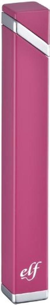 床手荷物無知ペンギンライター ガスライター エルフ スリム 電子式 ピンク