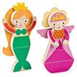 Best HAPE誕生日おもちゃ - Tender Leaf Toys マグブロックプリンセス 磁気人形パズルプレイセット 磁気人形ドレスアップゲーム 教育玩具 – Review