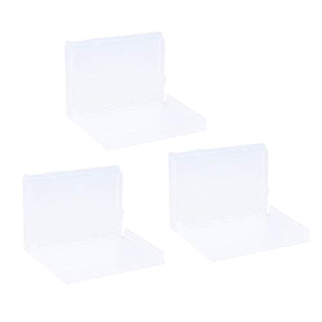 表面化粧挽くToygogo 3ピース/個ネイルドリルビットホルダー防塵スタンドディスプレイオーガナイザー収納容器20穴マニキュアツールケースボックス(ドリルビットは含まれません)
