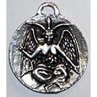 ▼サバティック・ゴート(シルバー)Sabatic goat silverエリファス・レヴィのバフォメット像をデザインしたペンダント。あなたの魔術的なパワーを増幅してくれることでしょう。銀色。ブラックコード付。(T:4cm)