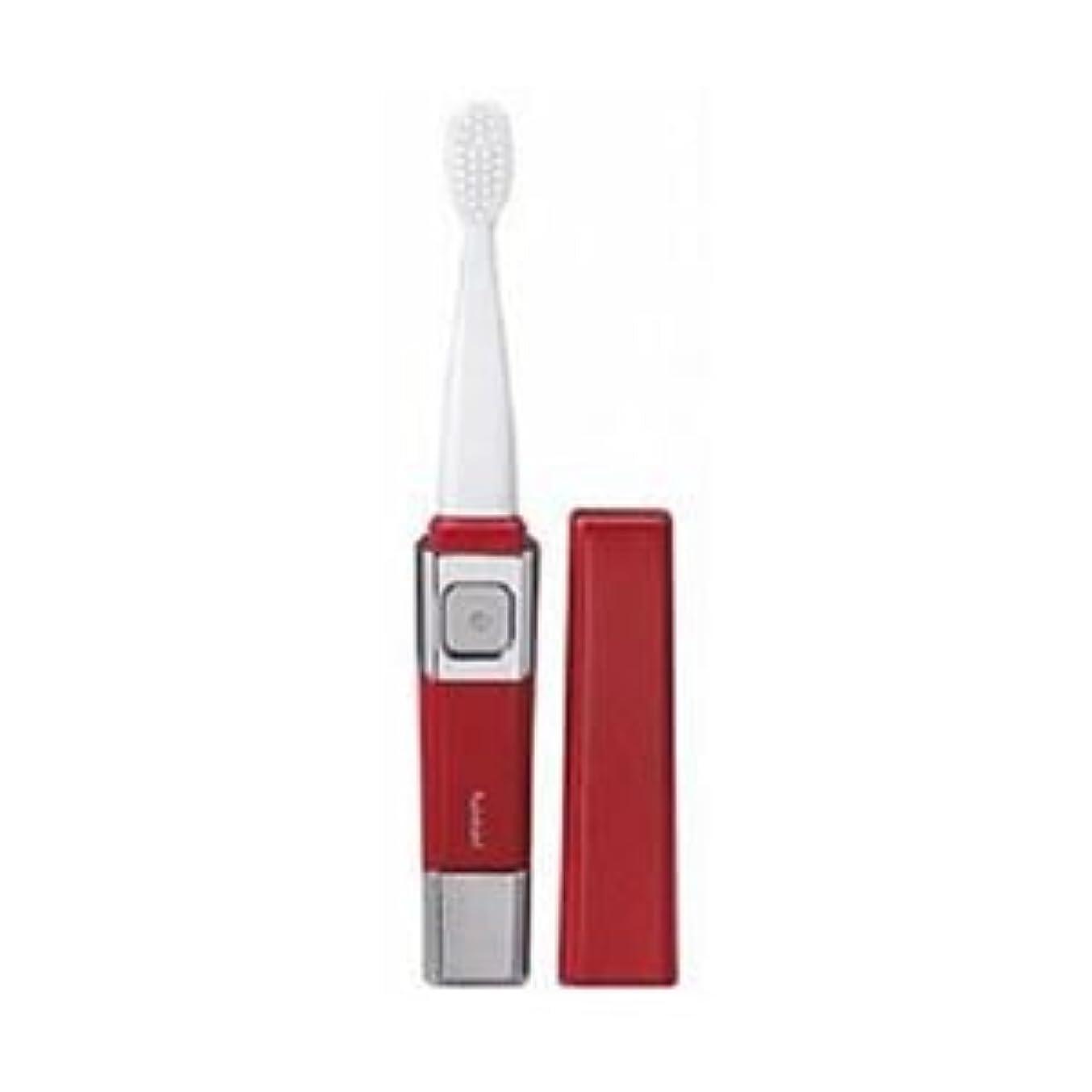 (まとめ)ツインバード 音波振動歯ブラシ レッド BD-2755R【×3セット】